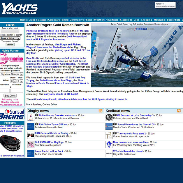 Dutch Open, Yachts and Yachting 2011