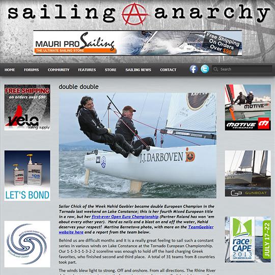 Tornado World Championship, Sailing Anarchy 2013