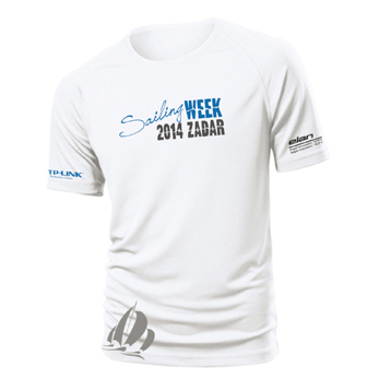 Graphic design T-shirt SAILING WEEK ZADAR 2014