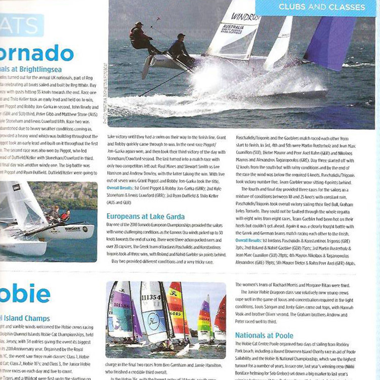 Tornado European Championship, Yachts and Yachting 2010