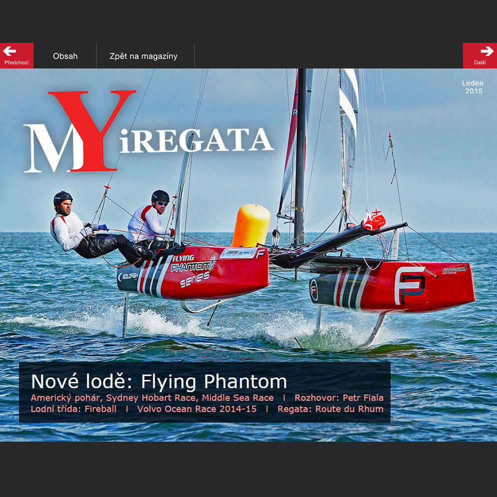 Cover photo – MYiREGATA Sailing Magazine, January 2015
